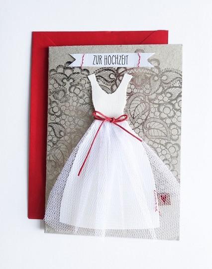 Hochzeitskleid Karte. Spitze.