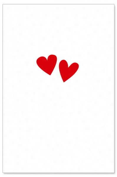 Hochzeitskarte - Herzen