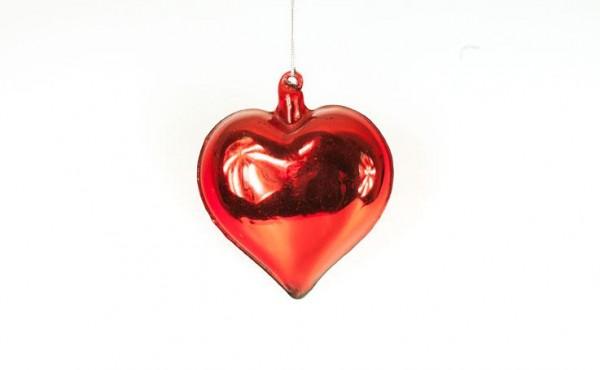 Herzanhänger rot