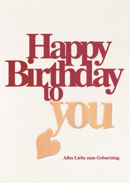 """Holztextkarte """"Happy Birthday"""""""