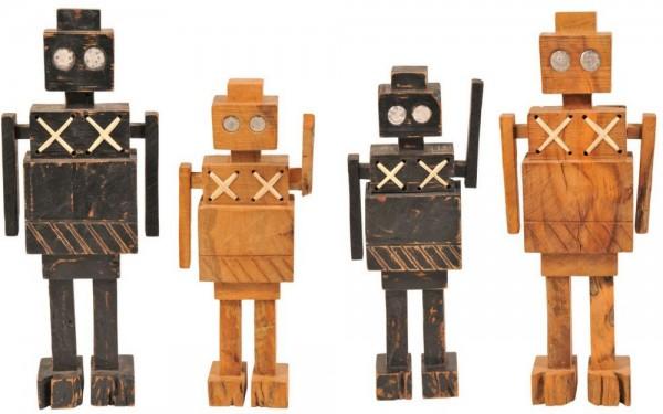 Dekofigur Roboter aus Holz