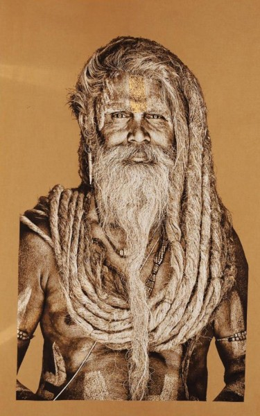 Gobelin Bild - Veda Shripati - Sand