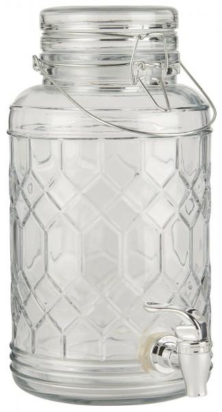 Getränkebehälter mit Zapfhahn aus Glas - 3,5 Liter