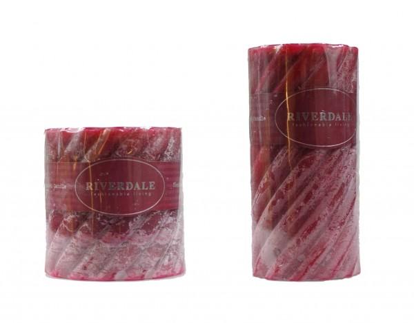 Kerze rot gedreht Cranberry Applespice