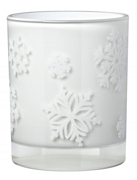 Winterzeit-Teelicht Schneeflocken