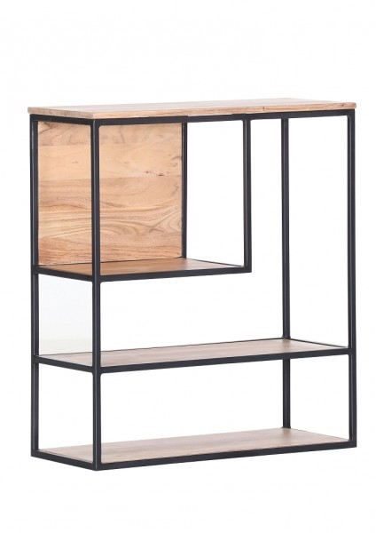 Wandregal Akazienholz Porto 70x80x30 cm