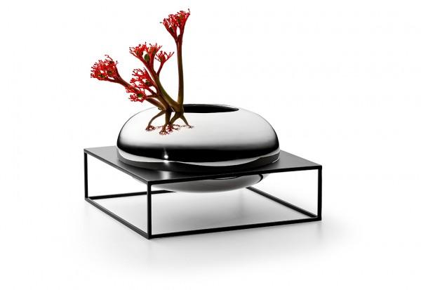 Solero Vase XL im Ständer - flache Form