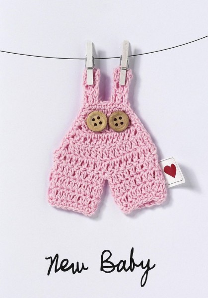 Baby Welcome Karte Mädchen