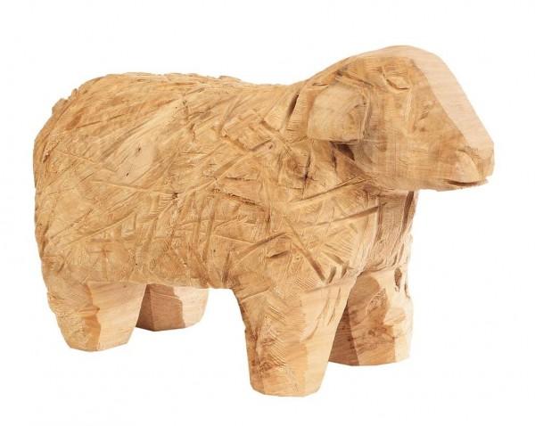 Holzschaf Pappel natur