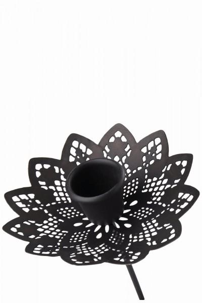 Kerzenhalter mit Stab schwarz