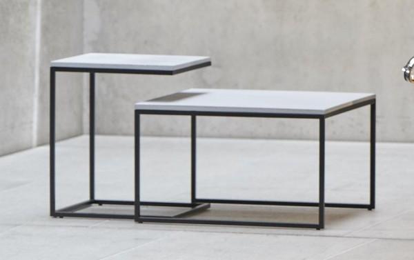 jan kurtz pizzo beton beistelltisch 49x40x40 cm schwarz beton online kaufen. Black Bedroom Furniture Sets. Home Design Ideas