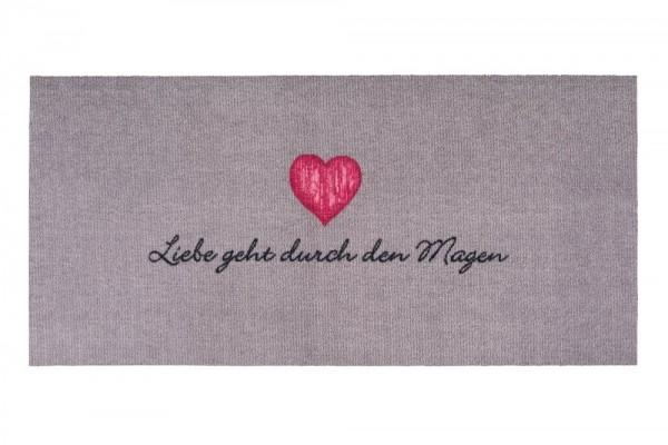 Liebe geht durch den Magen - Fußmatte