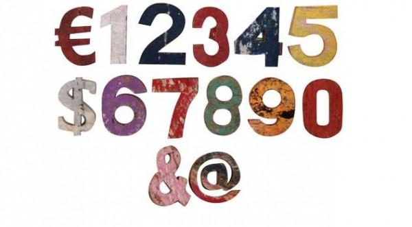Zahlen und Zeichen - Vintage