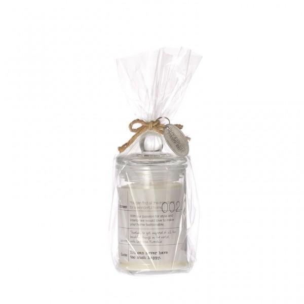Kerze im Glas Weiß 12 cm
