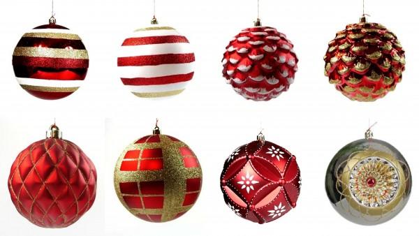 Weihnachtskugeln Ø 12 cm Rot