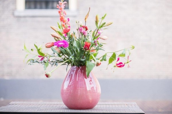 Vase Druba - H32 cm; Ø32cm, Cranberry