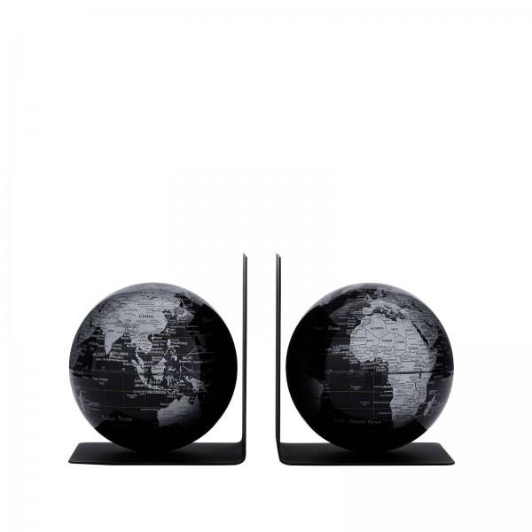 Buchstützen Globus Set BOOKGLOBE schwarz