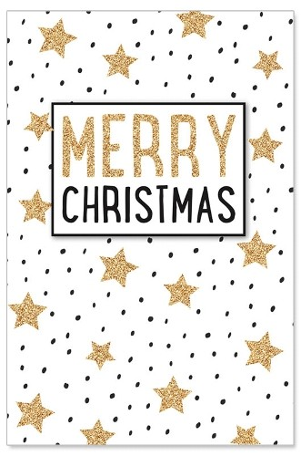 Weihnachtskarte/Christmas/Sterne/Glitter