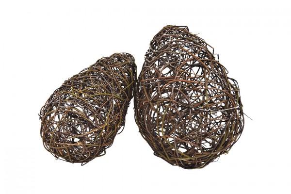 Holz-Ei, Weide, h 55 cm