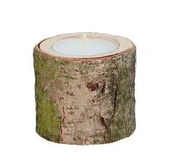 Teelichthalter Holz - Eiche