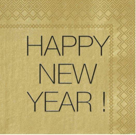 Silvester Servietten Happy New Year 25x25 cm