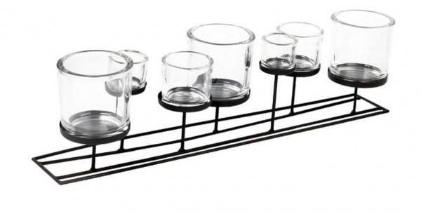 Lincoln - Windlicht 70 cm mit 7 Gläsern