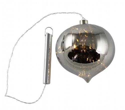 LED Weihnachtsdeko - CIDO Zwiebel Rauchglas