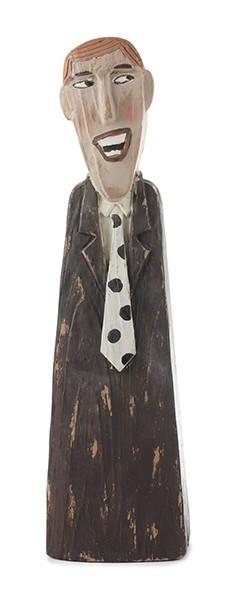 Herr im braunem Anzug 40 cm