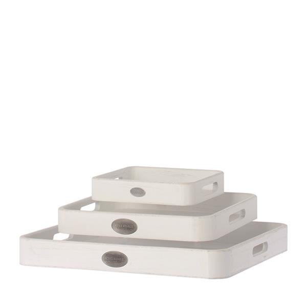 Tablett Basic quadratisch weiß