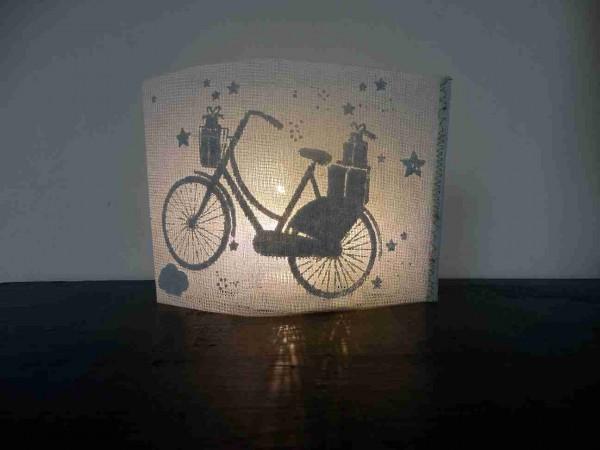 Winter Lichtpost - Fahrrad