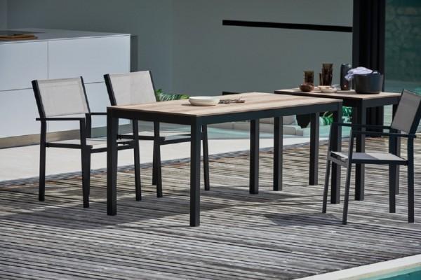 Outdoor Tisch Quadrat Hpl-Schichtstoff holzoptik