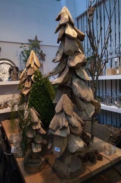 Holz-Baum Teak unfinish; h 65 cm