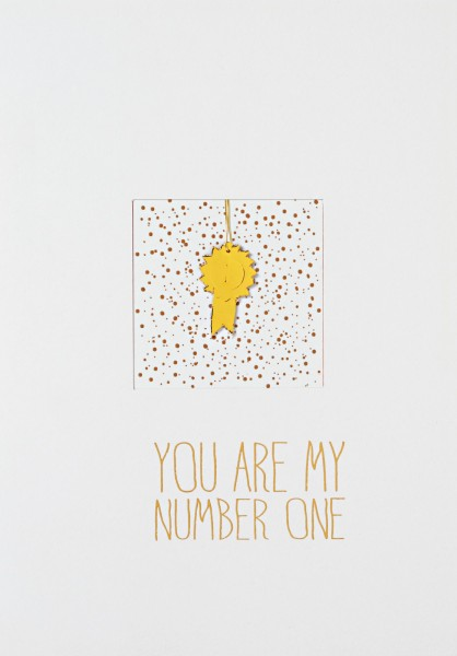 """Fensterkarte """"You are my number one"""""""