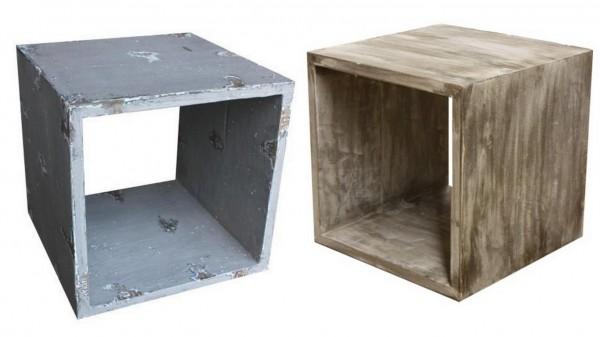 Kubus alt - Holz