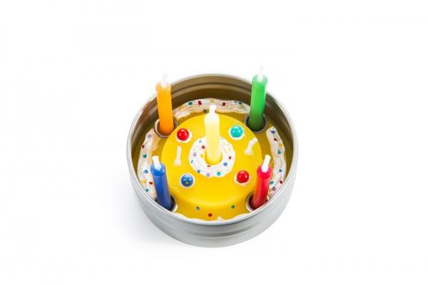 Geburtstagsdosenkerze
