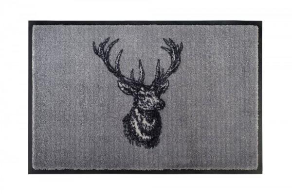 Fußmatte Hirsch grau 50x75 cm