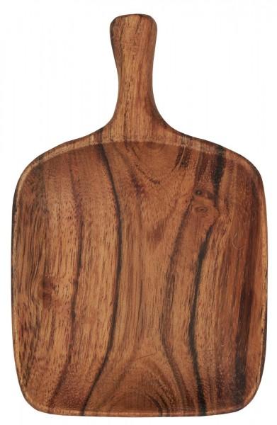 Tappasschale eckig mit Griff - geöltes Akazienholz