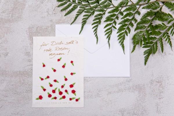 Hochzeit - Blütenkarte