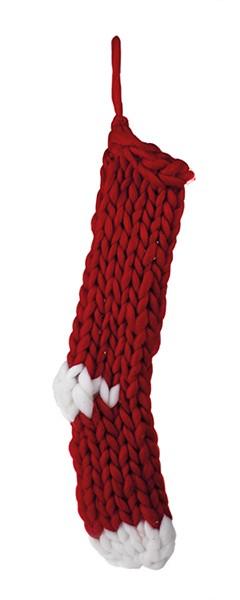 Stiefel rot gestrickt 48 cm