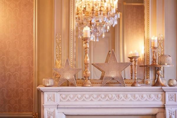 Teelichthalter Star gold