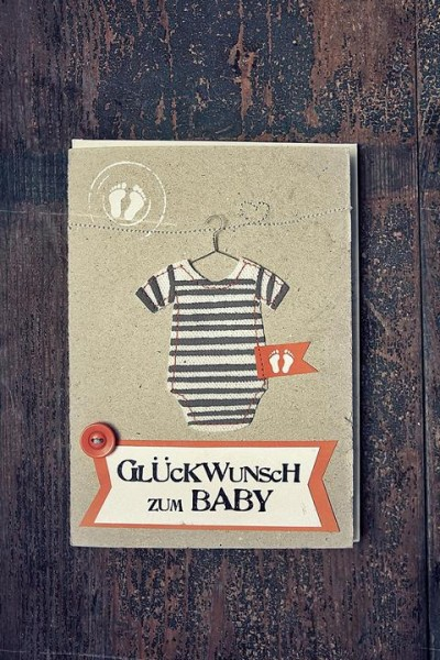 Glückwunsch zum Baby - Babykarte