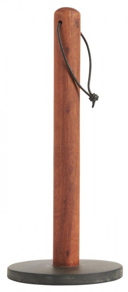 Küchenrollenhalter aus Akazienholz und Stein