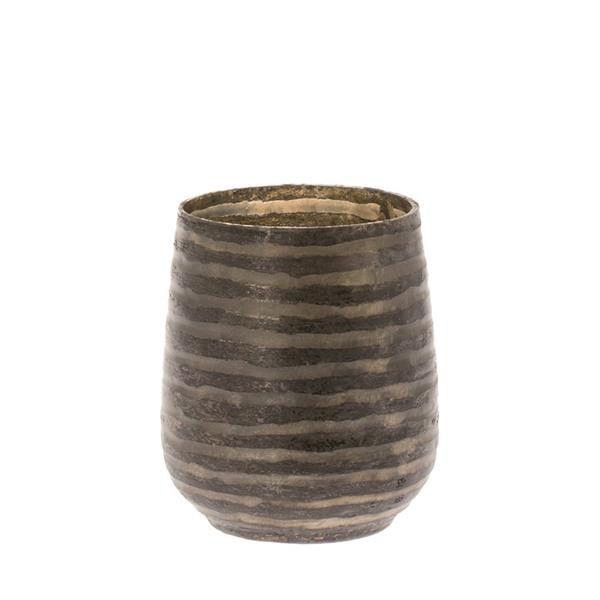 Teelichthalter Zafra grau