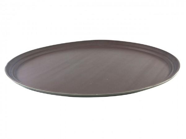 Serviertablett non-slip, oval