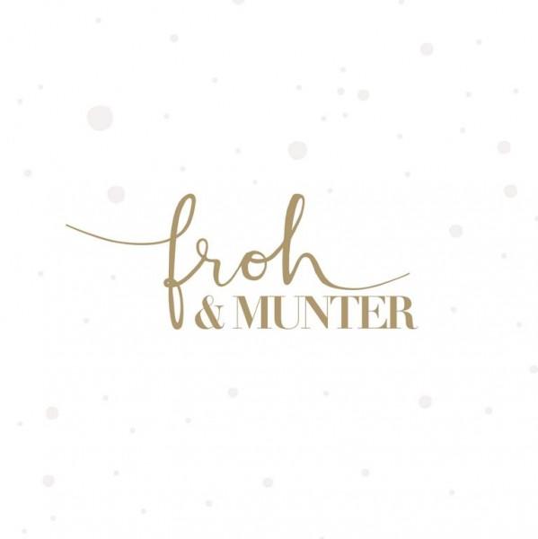 Froh & Munter Serviette 25 x 25 cm