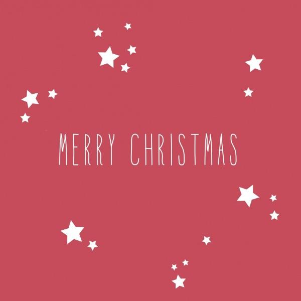 Weihnachtsservietten Merry Christmas 33 x 33 cm
