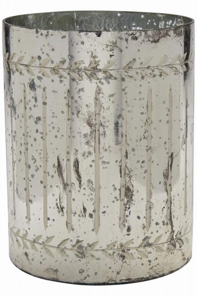 Vase Antique Silber Streifen