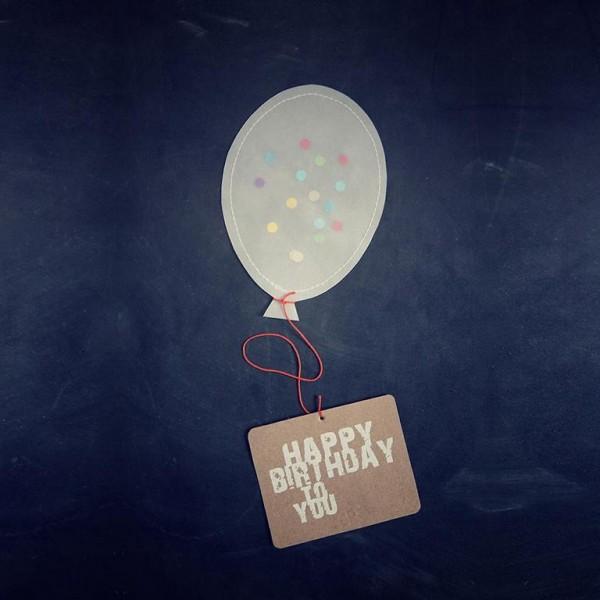 Happy Birthday - Ballonpost