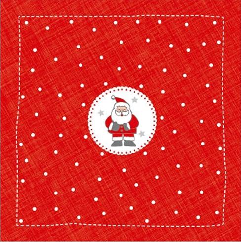 Serviette - Weihnachtsmann rot