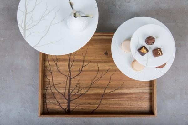 Zuhause - Tablett Baum